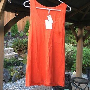 JOIE Orange Linen Tank Top - Brand New!